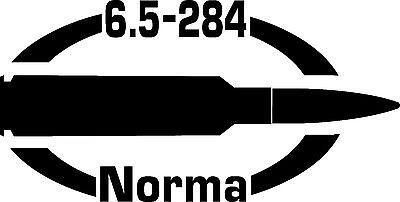 6.5-284 Norma gun Rifle Ammunition Bullet exterior oval decal sticker car wall