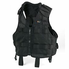 Lowepro S&F Technical Vest Black S/M fits chest sizes 42-50 in 105-125 cm ~ NEW