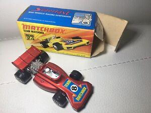 Matchbox-Lesney-mit-Original-Verpackung-Nr-24-Altes-Spiel-Auto-Formel-1-WIE-NEU