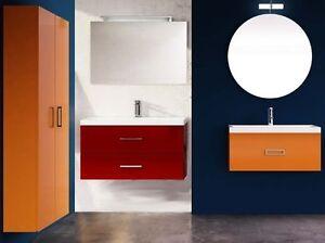 Colori Per Mobili Da Bagno : Mobile da bagno in 23 colori per arredo sospeso con lavabo e mobili