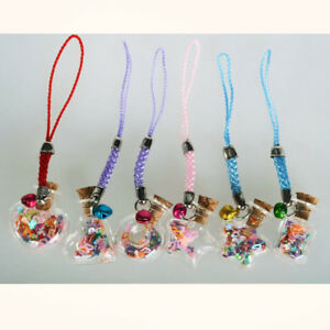 10pcs Mini Glass Cork Bottle Charms Jars Vials Wishing Bottles DIY Craft Pendant