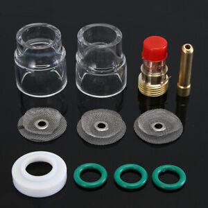 Schweißen Set Gaslinse Brennerkappe WIG Glas Gasdüse #12 Kit Für WP-17 18 26