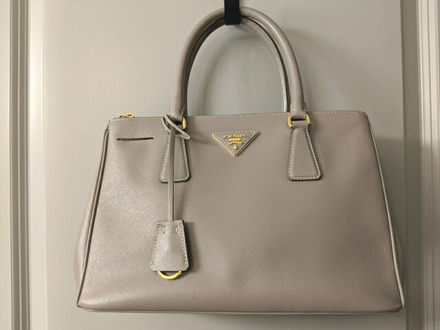 Saffiano Leather Bowling Bag Pink