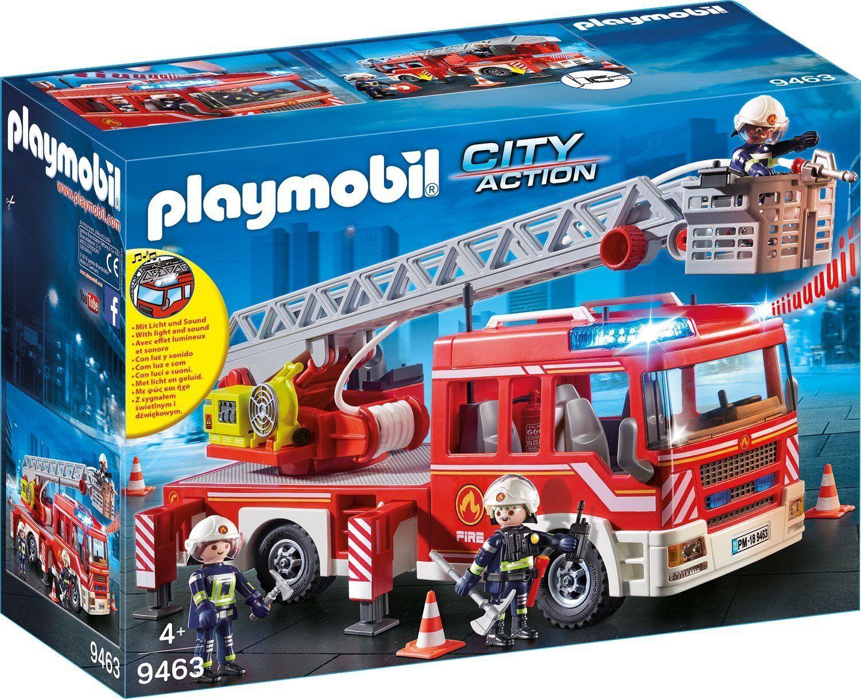PLAYMOBIL Feuerwehr Leiterfahrzeug Feuerwehrauto 9463 NEU OVP