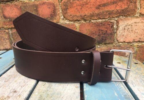 Dark Brown Belt 2 Inch Wide 100/% Real Leather Handmade Choice of Buckle /& Loop