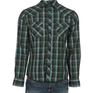 Wrangler Mens Rock 47 by Classic Plaid Shirt