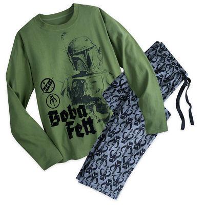 NWT Disney store Star Wars Boba Fett Men pajama SET S,XL,2XL