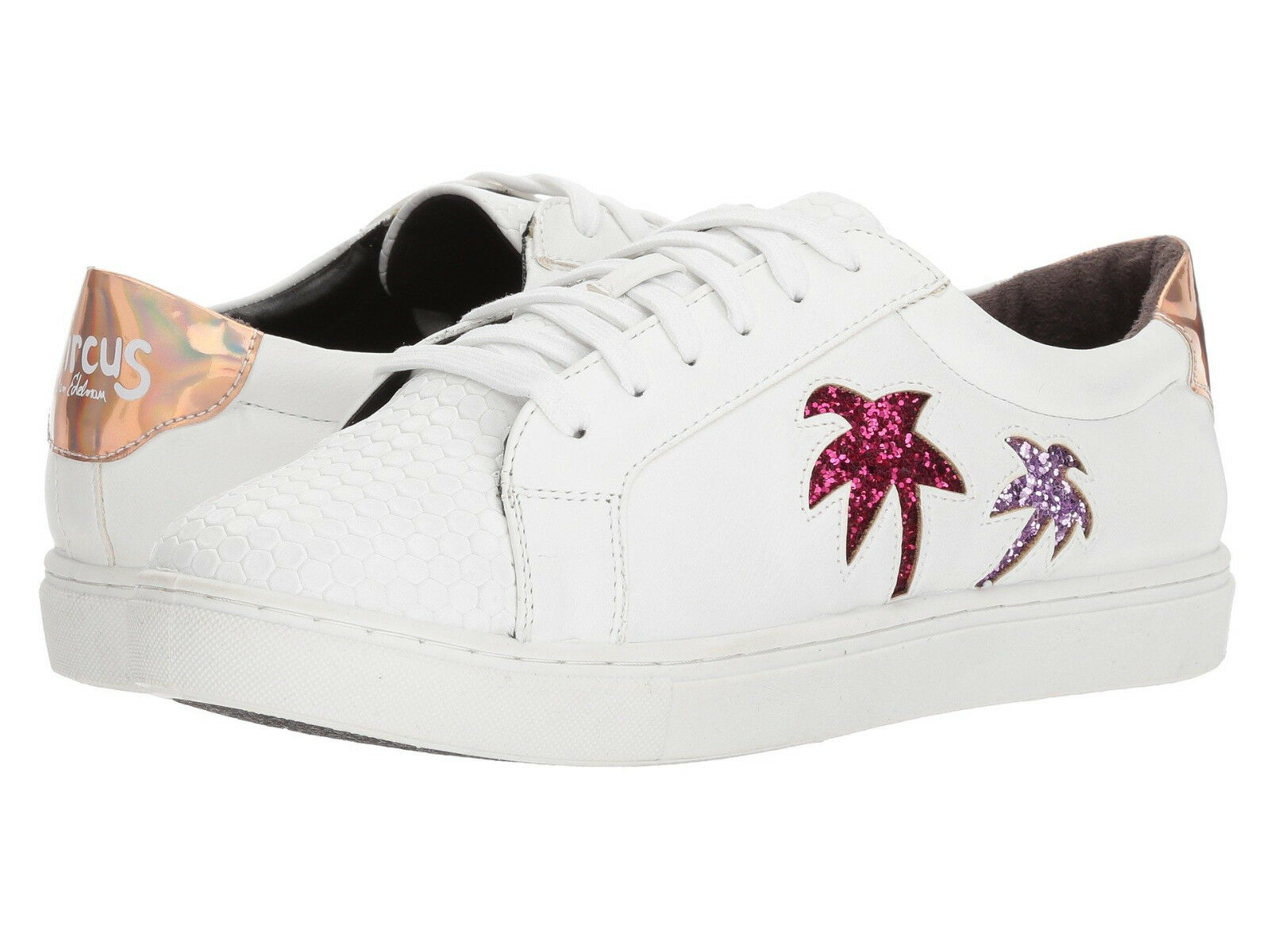 Circus by Sam Edelman Vanellope White Pink Palm Trees shoes 8.5