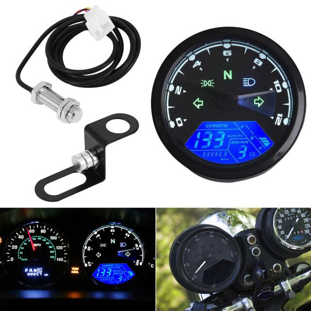 Universal Lcd Digital Speedometer Odometer Tachometer
