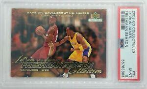 Rare: 2003 UD Collectibles Freshman Season Kobe vs Lebron James RC #39, PSA 9