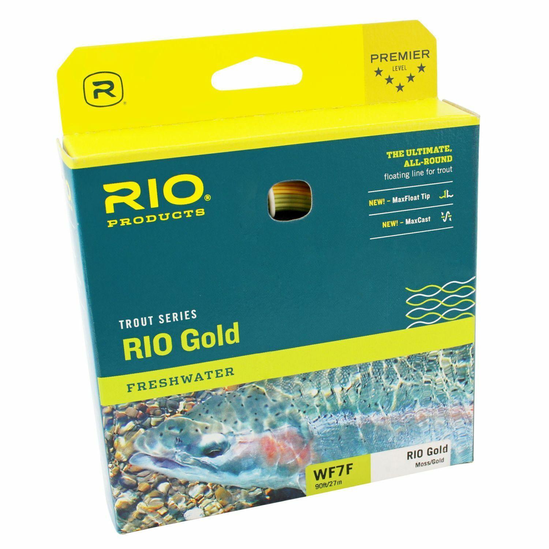 (  m) RIO Gold DualTone Fliegenschnur moss Gold - WF-6,7 und 8 F