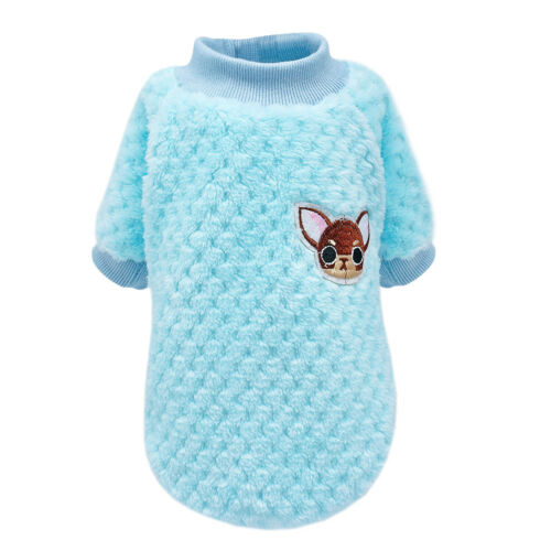 Pet Puppy Sweater Soft Plush Knit Durable material Small Dog Clothes 2 Colours