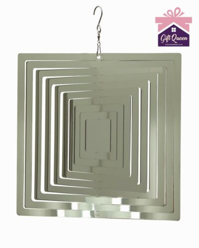 "6/"" FADING SQUARE WIND SPINNER Stainless Steel Home /& Garden Decor EX DISPLAY"