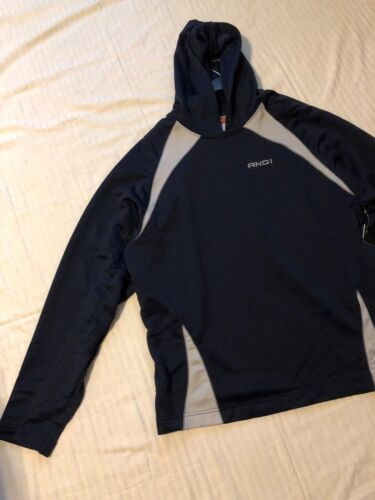 AND 1 Navy w//Gray Trim L /& XL Men/'s Long Sleeve Basketball Hoodie