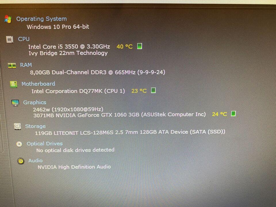 Selvbyg, SUPER GAMER - i5 / GTX 1060, 3,7 Ghz