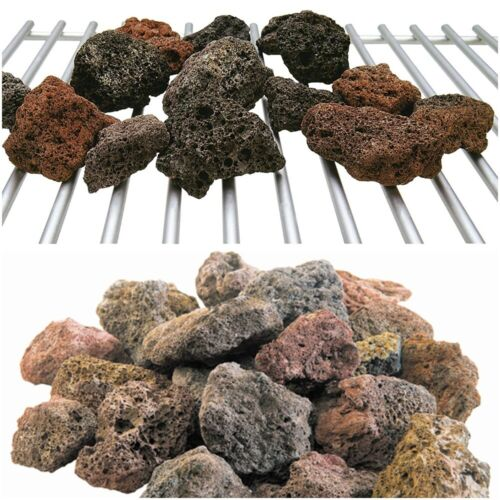 Natural Lava Rocks Grilling Barbecue Outdoor Cooking Gas Grill Rock Stones 6-lbs