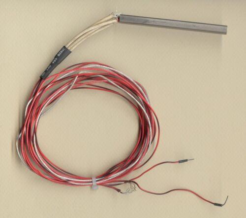 """FAST HEAT Cartridge Heater 1//4/""""D x 3/"""" L 300W 240V 36/"""" Fiberglass Leads w// Type J"""