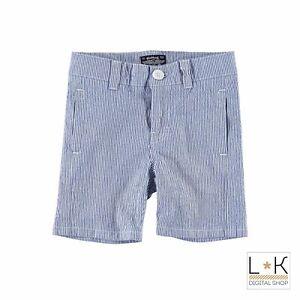 Pantalone-a-Righe-in-Cotone-Neonato-Azzurro-Sarabanda-M531