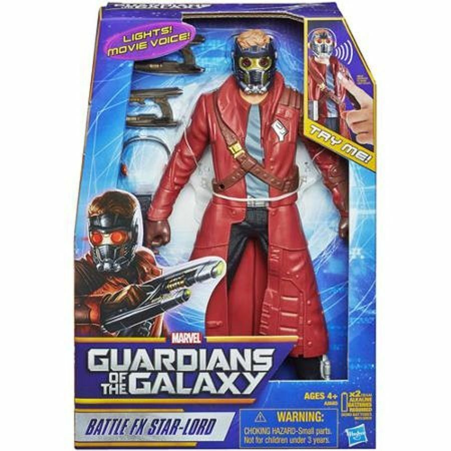 MARVEL BATTLE FX STAR LORD ELECTRONIC 12  FIGURE SOUNDS GUARDIANS OF THE GALAXY
