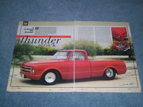 "1968 Chevy C10 Short Bed Fleetside Pro Street Pickup Article ""Thunder Struck"""