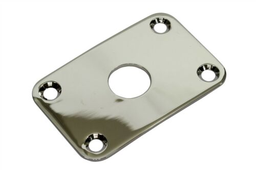 Curved Rectangular Metal Jack Plate Jackplate for Gibson® Explorer Nickel