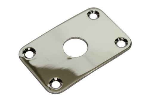 Curved Rectangular Metal Jack Plate Jackplate for Gibson® Explorer Nickel