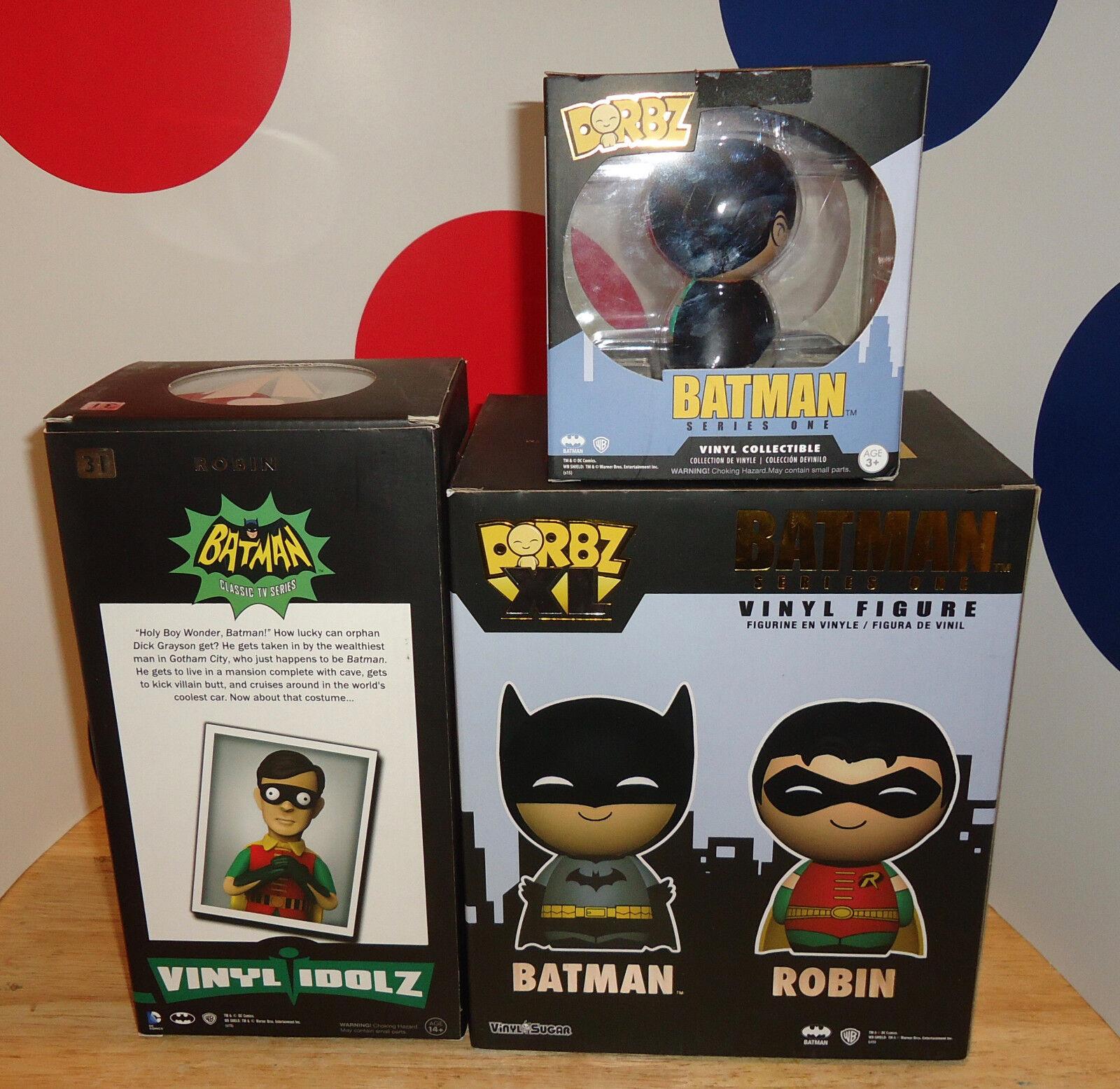 ROBIN THE BOY WONDER 3 VINYL FIGURE IDOLZ VINYL SUGAR SUGAR SUGAR WB Series 1 BATMAN DORBZ 15b191