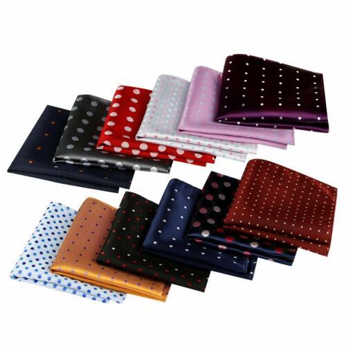 Men Handkerchief Pocket Square Hanky Polka Dot Mens Fashion Accessories 12 Pack