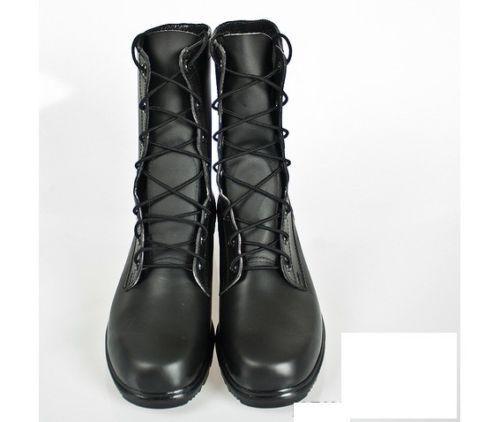 Zapatos estilo de hombre hecho a mano de Cuero Negro botas De Cuero Combate Militares