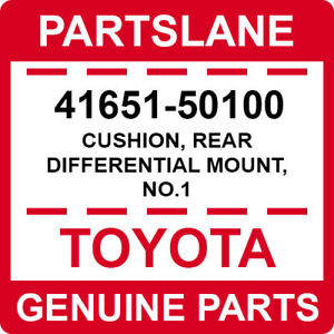 4165150100 Genuine Toyota CUSHION NO.1 41651-50100 REAR DIFFERENTIAL MOUNT