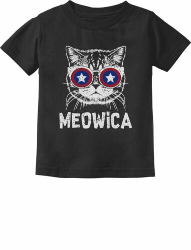Meowica America Patriot Cat 4th of July Toddler//Infant Kids T-Shirt Independence
