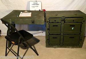 Pelican Hardigg Portable Military Field Desk USGI Army ...