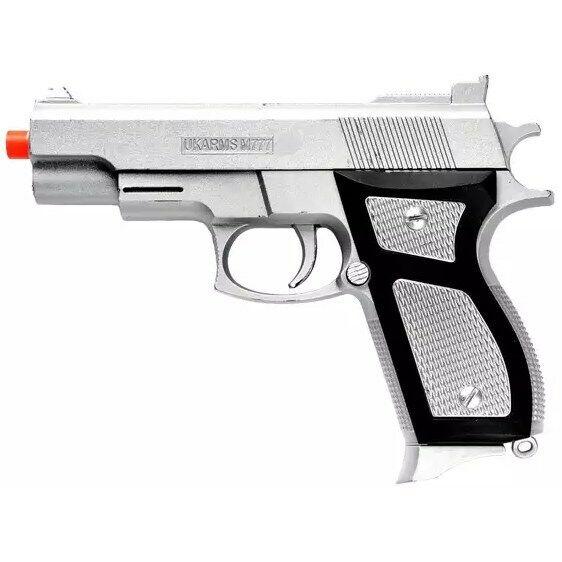 Uk Arms M777b Spring Pistol Black For Sale Online Ebay
