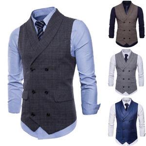 Men-Formal-Casual-Dress-Vest-Suit-Slim-Fashion-Tuxedo-Waistcoat-Coat-Outwear-Hot