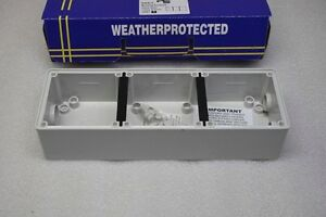 Box-of-20-PS-56E3-Weather-Proof-Protected-3-gang-16-Point-Mounting-Box-Enclosure
