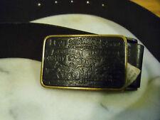 VINTAGE LEVI'S IN OTTONE Fibbia della Cintura RED TAB Mucca in Pelle Bottone a Pressione OFF Taglia 80/32