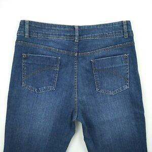 Blue-Grae-Denim-Dark-Blue-Bootcut-Stretch-denim-Jeans-Women-039-s-Size-10-W30-5