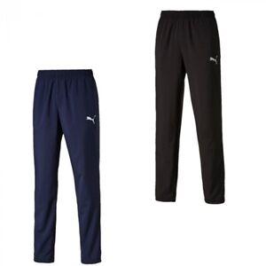 Puma-ESS-Woven-Herren-Trainingshose-Sporthose-Jogginghose-schwarz-blau