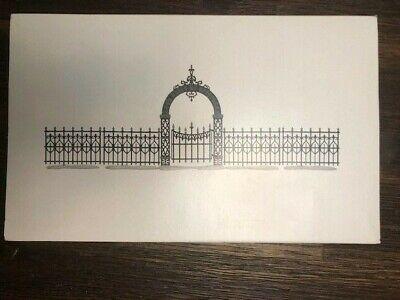 w//Box Village Accessories 4 pcs *52722 Depart 56 Holly Split Rail Fence