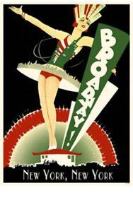 New-York-City-Vintage-Broadway-Print-NYC-Souvenir-Travel-Gift-Poster