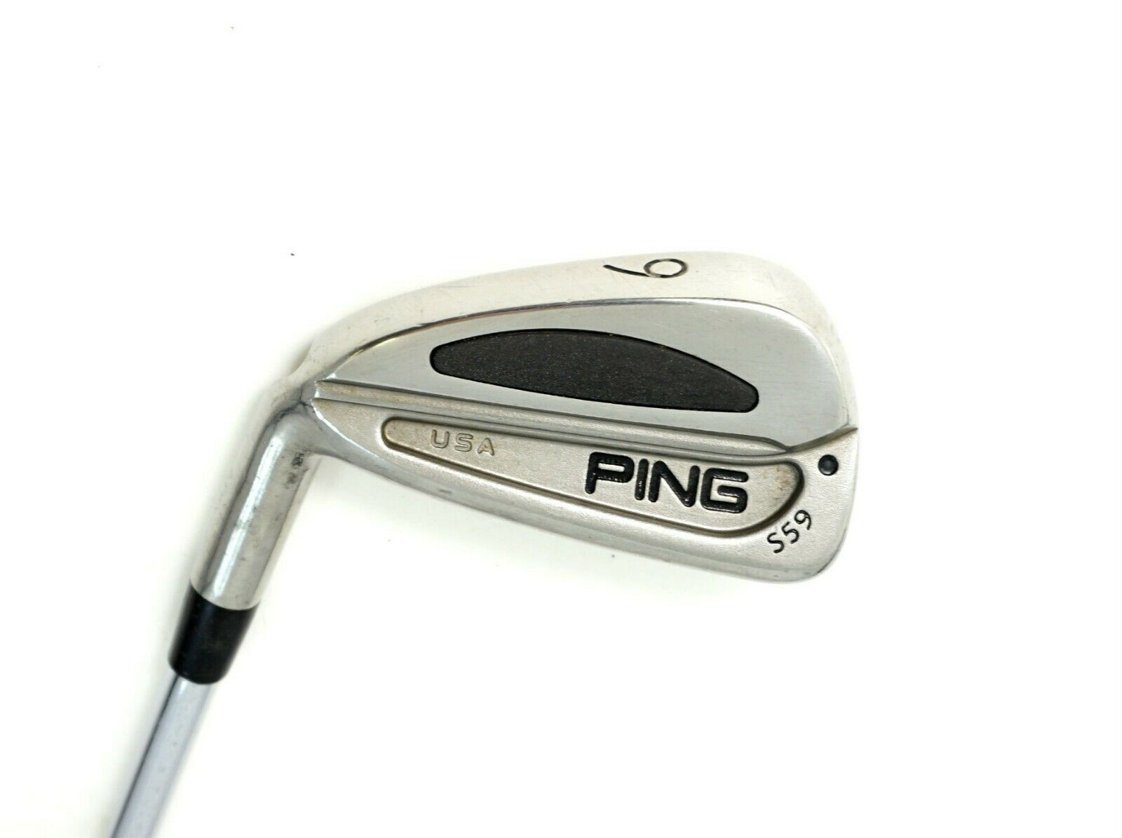 Zurdo  Ping S59 Punto Negro Hierro 6 Eje de acero rígido, empuñadura de Ping  muchas sorpresas