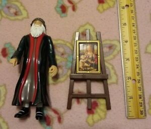 Accoutrements-2005-Leonardo-Da-Vinci-Action-Figure-w-Painting-Easel-amp-Portrait