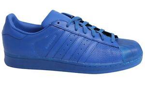 énorme réduction 36d44 bc59c Details about Adidas Superstar Adicolour Lace Up Blue Leather Mens Trainers  S80327 M15
