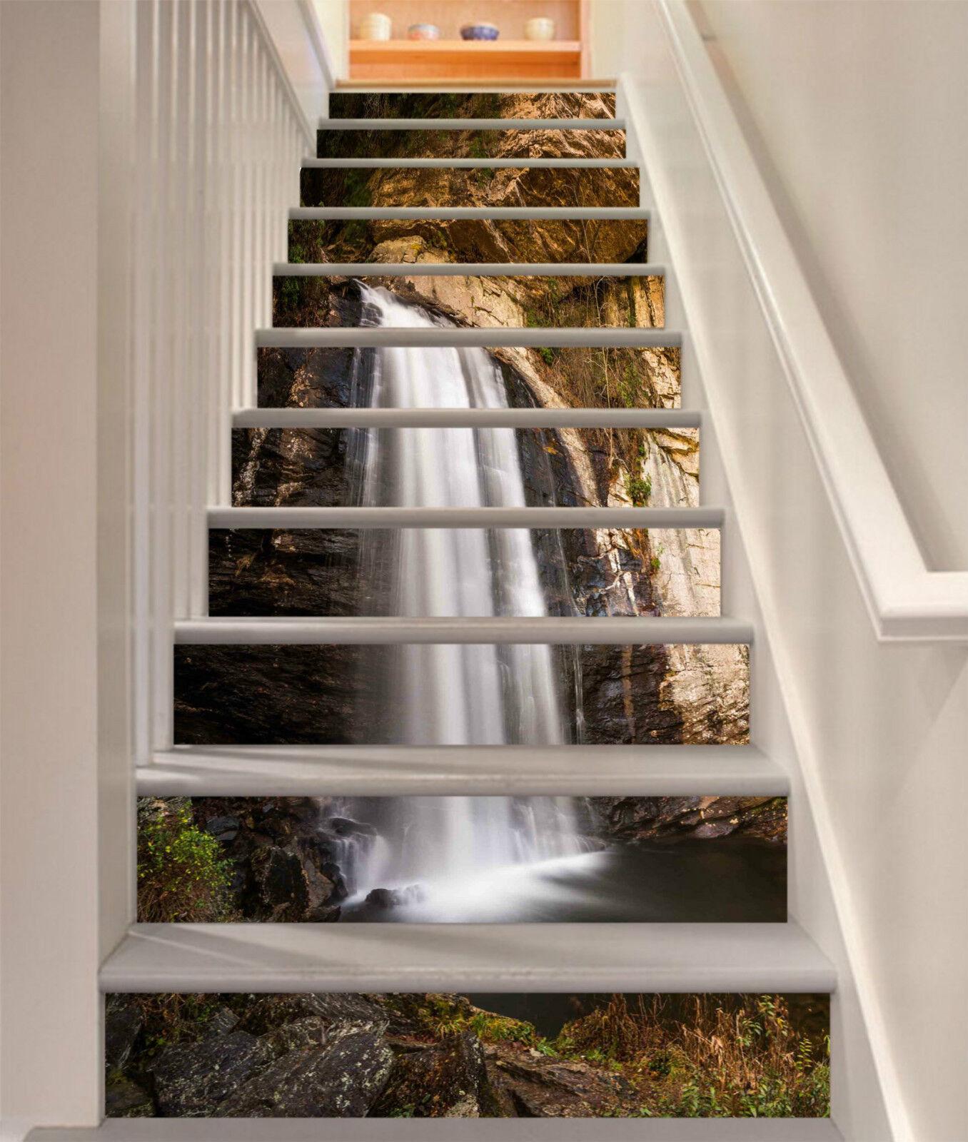 3D Wasserfall 0049 Stair Risers Dekoration Fototapete Vinyl Aufkleber Tapete DE