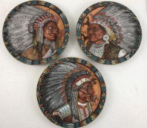 3-Native-American-Legends-Chiefs-of-Destiny-The-Bradford-Exchange-Plates