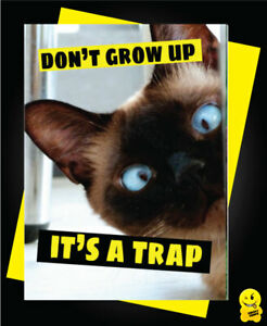 Sarcastic Don/'t Grow Up Its A Trap Happy 18th Birthday Funny Blank Greeting Card