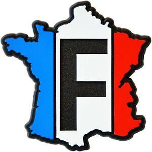 Relief-Emblem-3D-Frankreich-Aufkleber-France-Map-Landkarte-64-mm-HR-Art-19156