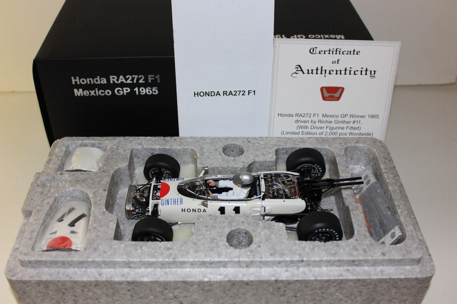 AUTOart 1/18 - - - 1965 Honda RA272 Mexico GP Winner Richie Ginther  11 MINT 86599 423fdc