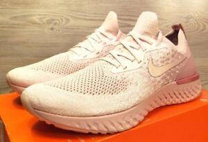 7cfb33541b7 Nike Epic React Flyknit Pearl Pink Running Fashion AQ0067 600 Mens ...