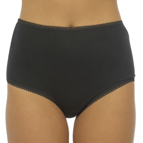 5 Pairs Ladies Cotton Maxi Full Briefs Womens Knickers 100/% Cotton Sizes 12-20